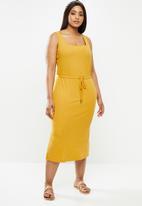 Carmakoma - Sophia sleeveless calf dress - yellow