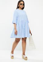 Carmakoma - Chicago life 2/4 denim tunic dress - blue