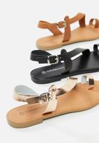 Superbalist - Dori lathankle strap sandal - black