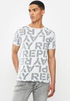 Replay - All over print replay tee - grey