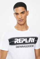 Replay - White 3d printed graphic tee - white
