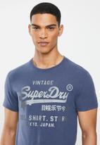 Superdry. - Vl shop bonded tee - navy