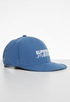 Superdry. - 6 Panel soft cap - blue