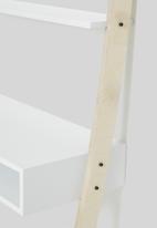 Native Decor - Tall leaning desk - white