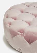 Sixth Floor - Molsey buttoned ottoman - blush