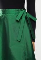 VELVET - Taffeta circle wrap skirt - green