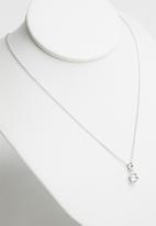 Superbalist - Cubic zirconia studs and necklace set-silver