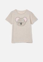 Cotton On - Stevie short sleeve embellished tee - blush marle