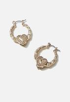 Rubi - Luxe layers small love hoop - gold
