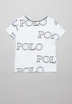 POLO - Girls Kim printed short sleeve tee - white