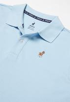 POLO - Boys Austin short sleeve golfer - light blue
