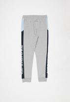 POLO - Boys Carson cut & sew track pant - grey