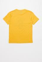 SOVIET - Boys logo tee - yellow