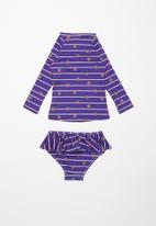POP CANDY - Strawberry stripe 2 piece printed swimsuit - navy