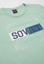 SOVIET - Boys logo tee - sage