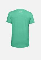 Under Armour - Sport style logo short sleeve T-shirt - reflection/white