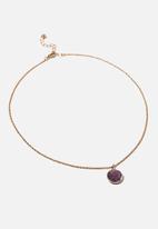 Rubi - Treasures short pendant necklace - amethyst