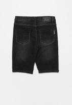 SOVIET - Boys denim short - black