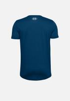Under Armour - Sport style logo short sleeve T-shirt - graphite blue