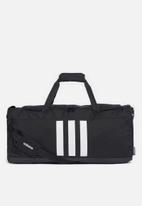adidas Performance - Three stripes medium duffle - black & white