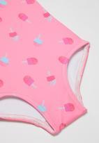 POP CANDY - Ice-cream one piece swimsuit - pink
