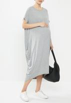Superbalist - Maternity grown on sleeve cacoon dress - grey