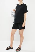 Superbalist - Maternity relaxed tummy band soft short - black
