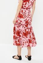 AMANDA LAIRD CHERRY - Ibundwe skirt - pink & red