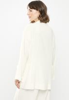 edit - Linen kimono shacket - white