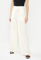 edit - Linen wide leg - white
