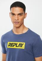 Replay - Navy center logo tee - navy