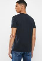 Replay - Navy logo tee - navy