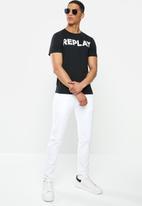 Replay - Black logo tee - black