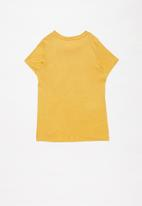 name it - Fanessa short sleeve oversize top - amber gold