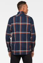 G-Star RAW - Stalt regular patch pocket long sleeve shirt - multi