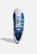 adidas Originals - Superstar - blue/ftwr white/gold met.