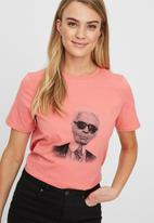 Vero Moda - Karla short sleeve T-shirt - pink