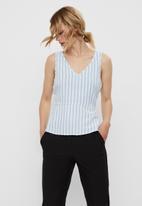 Vero Moda - Helen milo top stripe - blue & white