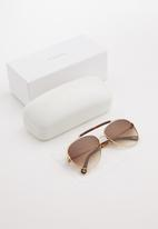 Chloe - Chloe aviator sunglasses - gold & brown