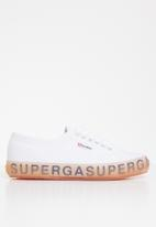SUPERGA - 2750 Jellygum lettering sole - white/pink/lilac