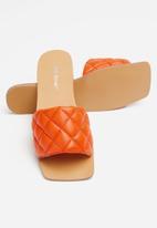 Public Desire - Cloud quilted flat slider - orange