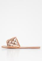 Public Desire - Cloud quilted flat slider - rose gold