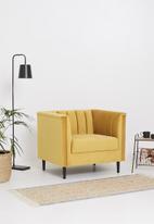 Sixth Floor - Flute armchair - mustard