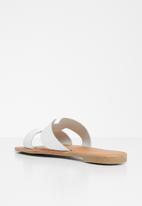Superbalist - Heides leather slide - white