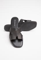 Superbalist - Heides leather slide - black