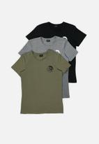 Diesel  - Randal crew neck short sleeve 3 pack tees - multi