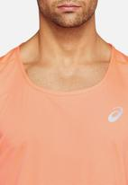 Asics - Silver singlet - coral