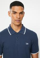 Lee  - Icon polo - navy & white