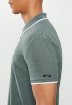 Lee  - Icon melange polo - green & white