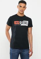 Diesel  - Diego cuty short sleeve tee - black